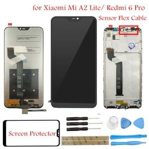 Image 1 - Pantalla LCD táctil para Xiaomi Mi A2 Lite/ Redmi 6 Pro, montaje de marco, piezas de reparación de pantalla táctil