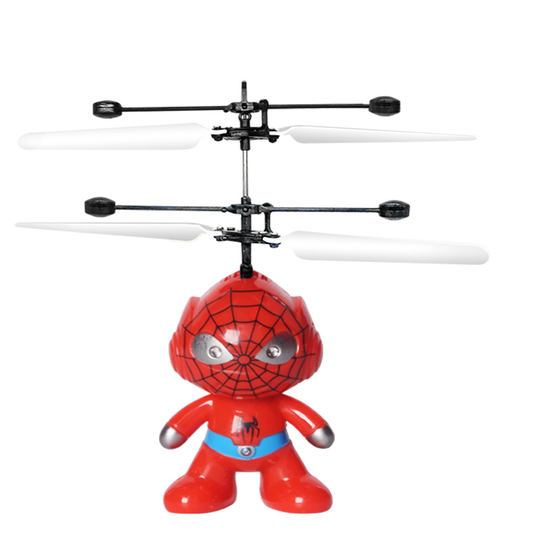 Suspension Astronauts Spider-Man Drop-resistant Helicopter Airplane Induction Vehicle CHILDREN'S Toy Wechat Business
