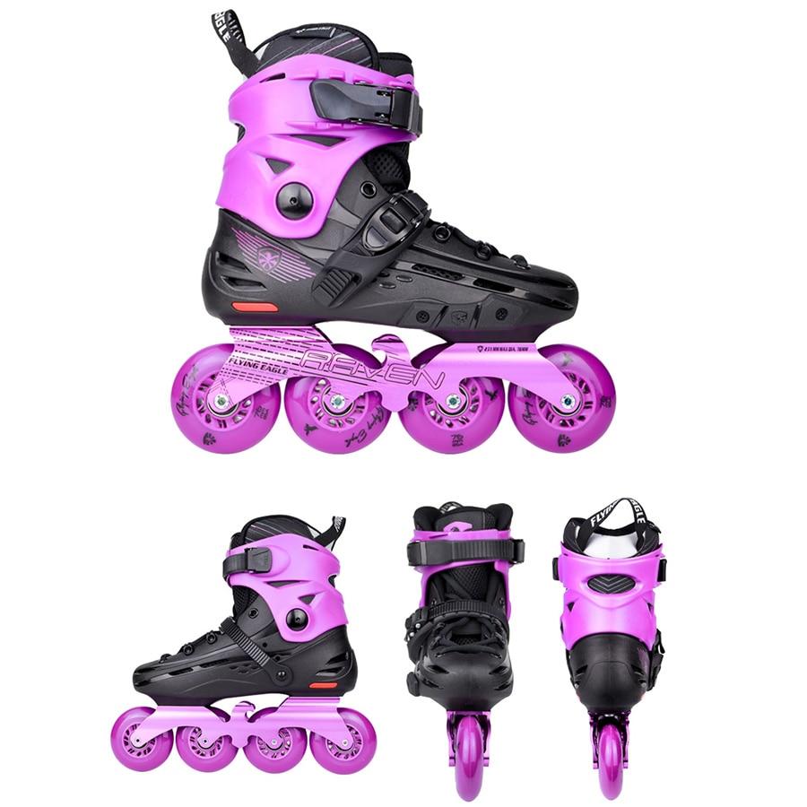 Image 4 - 100% Original Flying Eagle F4 RAVEN Inline Skates Falcon Professional Adult Roller Skating Shoe Slalom Sliding Free SkatingSkate Shoes   -