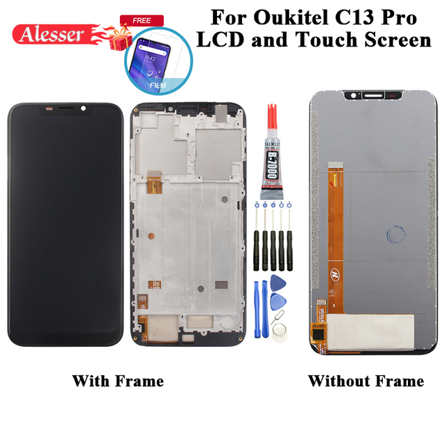 Alesser For Oukitel C13 Pro LCD Display And Touch Screen Digitizer Assembly Repair Parts+Film+Tools+Adhesive For Oukitel C13 Pro