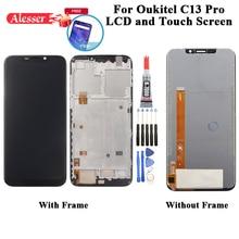 AlesserสำหรับOukitel C13 ProจอแสดงผลLCDและหน้าจอสัมผัสDigitizerชิ้นส่วนซ่อม + ฟิล์ม + เครื่องมือ + กาวสำหรับOukitel C13 Pro