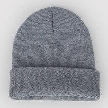 Ladies Plain Winter Beanies Warm Knit Hats for Women Men Soft Cuff Skullies Neon Green Orange Yellow Grey Purple Beige
