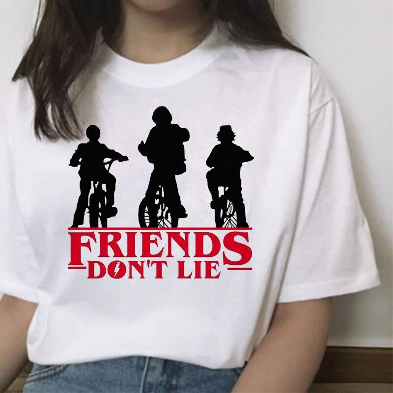Funny T Shirt for Women Stranger Things Female Tshirt Friend Don't Lie Letter Print Tshirts Summer O-neck Hot Tv Series T-Shirt 4
