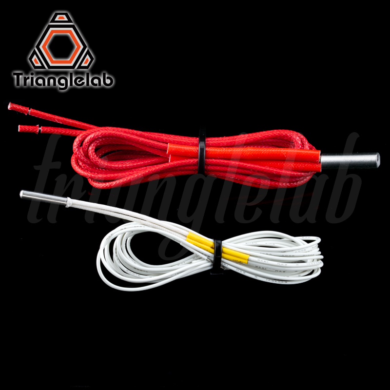 Trianglelab 104GT-2 Thermistor Cartridge And Heater Cartridge For E3D Hotend V6 Heater Block For Volcano Heater Block