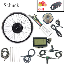 Schuck Electric bicycle conversion kit with LCD3 display 36V 250W Electric bike rear Rotate hub motor 7 tooth flywheel(China)