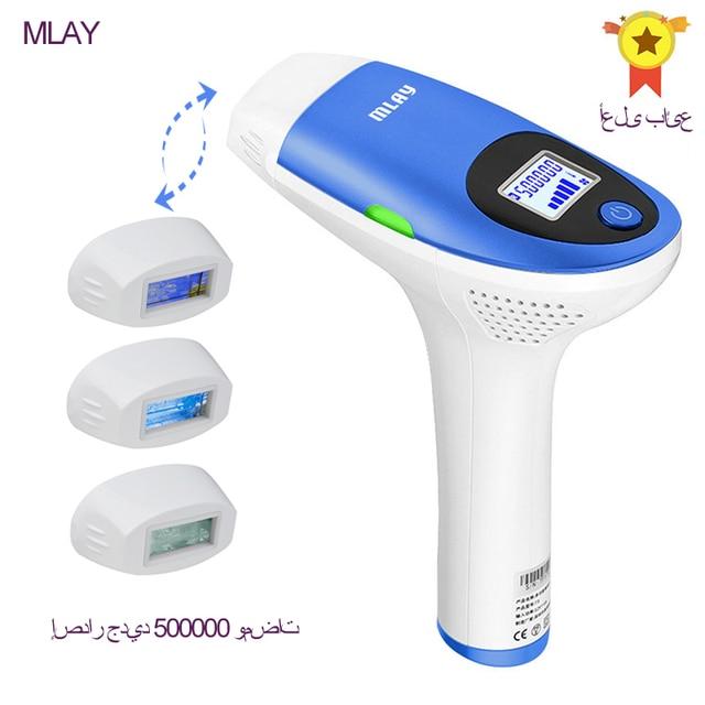 Mlay IPL depilador un appareil de pigmentation de machine dépilation au laser avec 500000 coups de bikini épilador épilateur pour les femmes