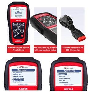 Image 5 - Original KONNWEI KW808 OBD Auto Scanner OBD2 Auto automotive Diagnostic Scanner Tool Unterstützt J1850 Motor Fualt Code Reader dfd