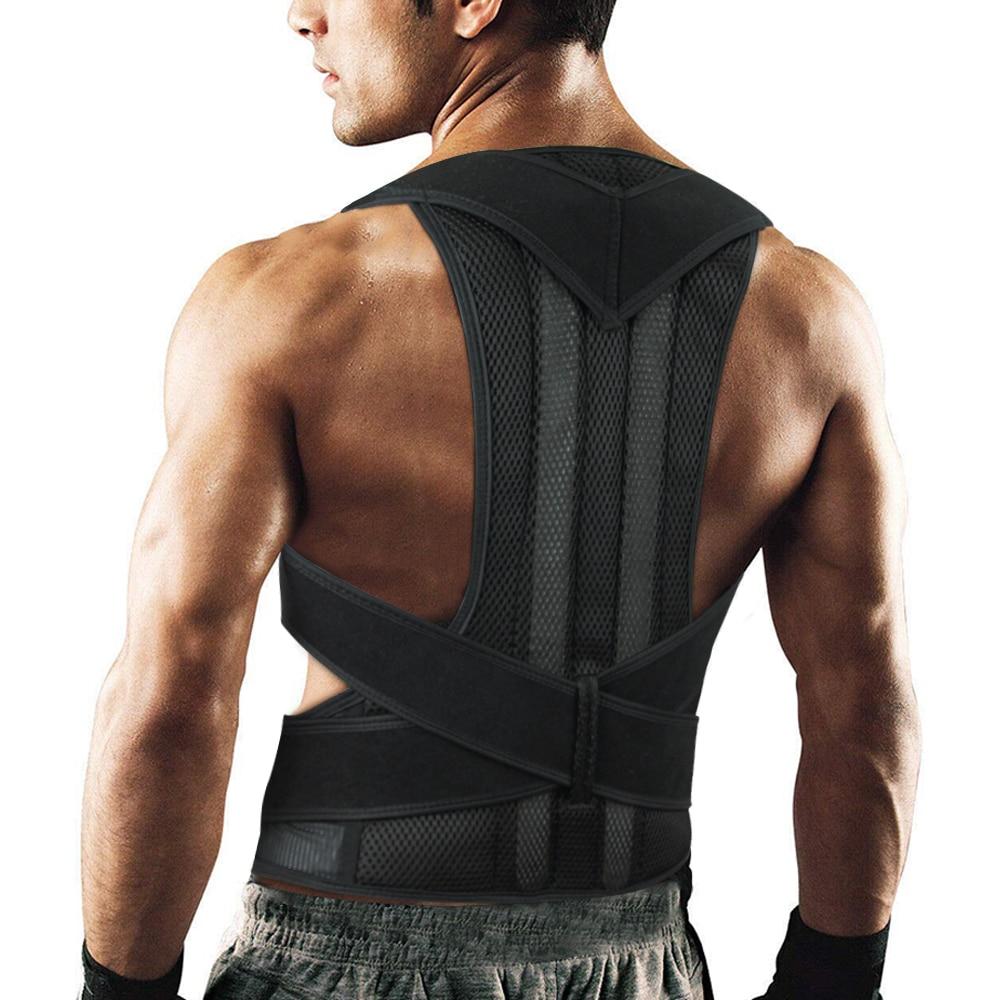 Adjustable Posture Corrector Back Support Shoulder Lumbar Brace Support Corset Back Belt For Men Dropshipping