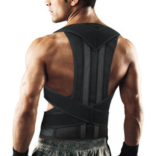 Adjustable Posture Corrector Back Support Shoulder Lumbar Brace Support Corset Back Belt for Men(China)
