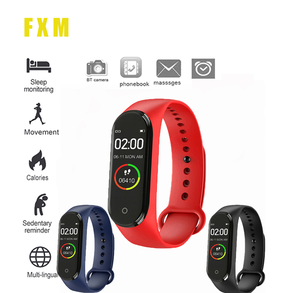 Couple Watches New Label M4 Intelligent  Watch Heart Rate Monitor For Men And Women Monitoring Sports Tracker Health Bracelet