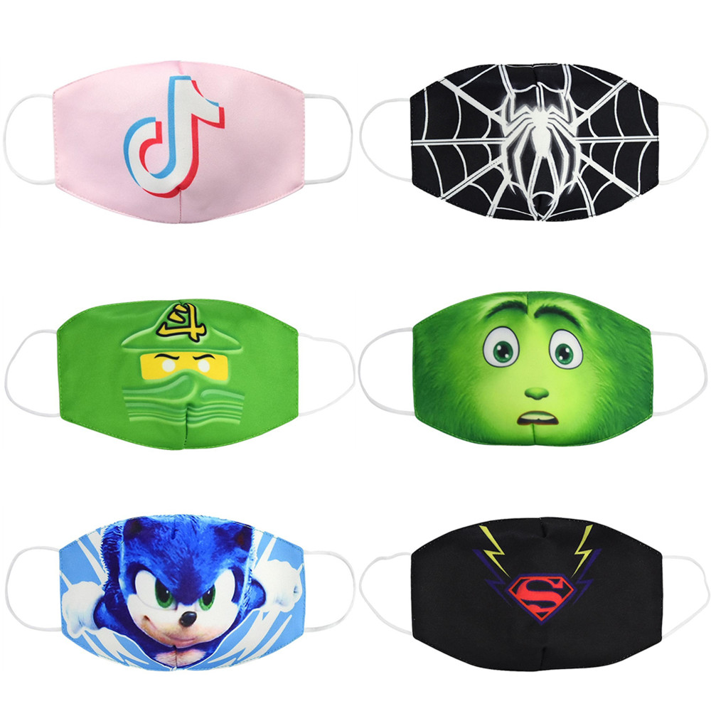 Hot Anti Dust Face Mouth Mask Reusable Breathable Cotton Protective Children Kid Cartoon Cute PM2.5 Anti-Dust Mouth Face Mask