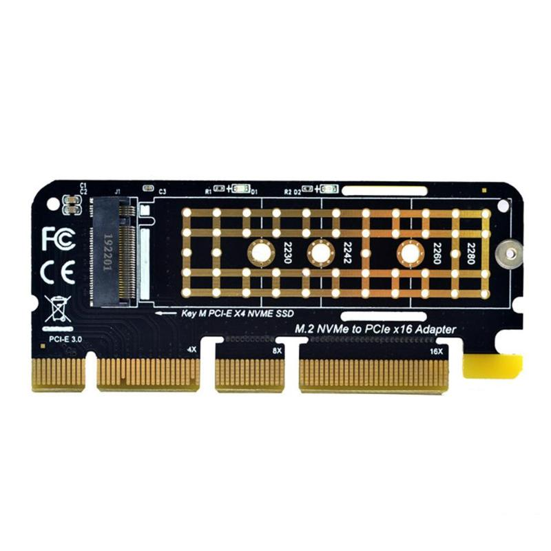 M.2 SSD PCIE Adapter Aluminium Alloy Shell LED Expansion Card Computer Adapter Interface M.2 NVMe SSD NGFF To PCIE 3.0 <font><b>X16</b></font> <font><b>Riser</b></font> image