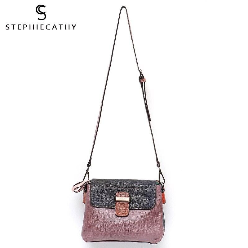 SC/Высококачественная Женская сумочка с клапаном из натуральной кожи в винтажном стиле