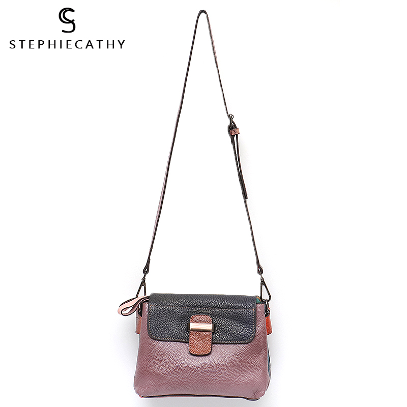 SC High Quality Italian Leather Women Flap Bag Female Vintage Style Crossbody Handbag Ladies Real Leather Casual Messenger Purse