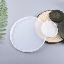 Molde de resina Epoxy para posavasos, molde de silicona para espejo Manual