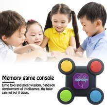 Creative Children Puzzle Memory Game Console LED Light Sound Interactive Toy Training Hand Brain Coordination With 3 Batteries(China)