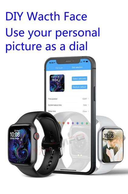 Lemfo Iwo 13 Pro W37 Smart Watch Men 2021 Bluetooth Call Custom Dial Sleep Monitor Women Smartwatch Pk Dt100 Hw16 Smart Watch 4