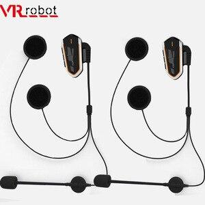 Водонепроницаемый мотоциклетный шлем VR Robot Moto, bluetooth-гарнитура, fm-радио, BT, беспроводной интерком для шлема