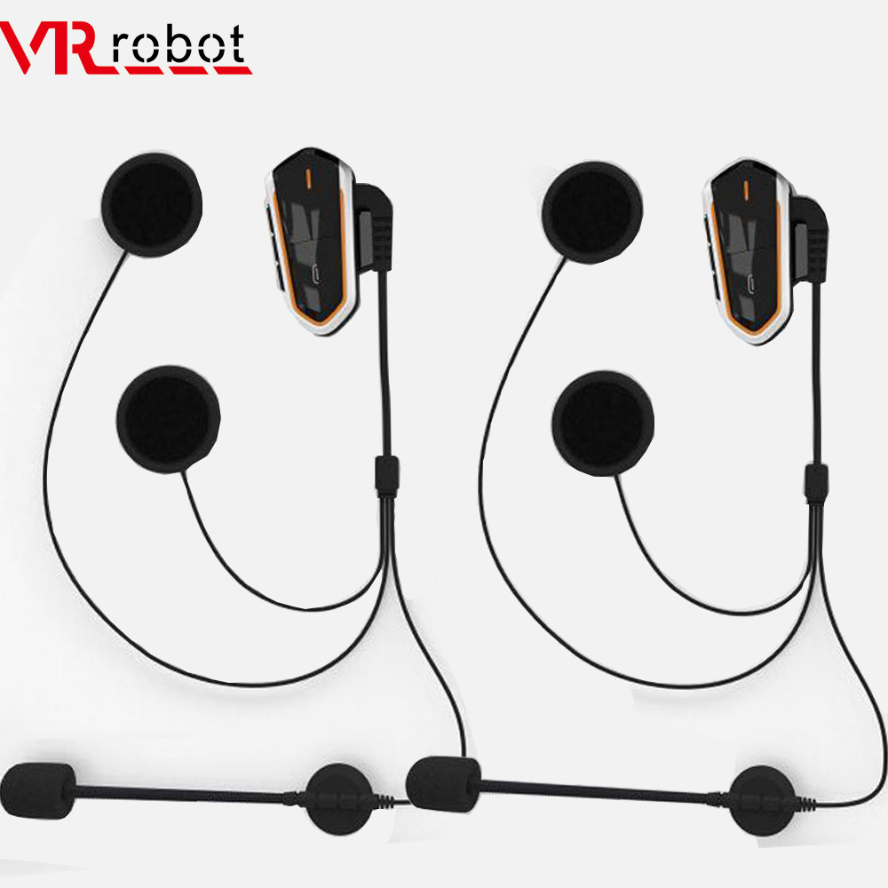 VR Roboter Moto Intercom Wasserdichte Motorrad Helm bluetooth headset Freisprechen FM Radio BT Wireless Helm Intercom Sprech