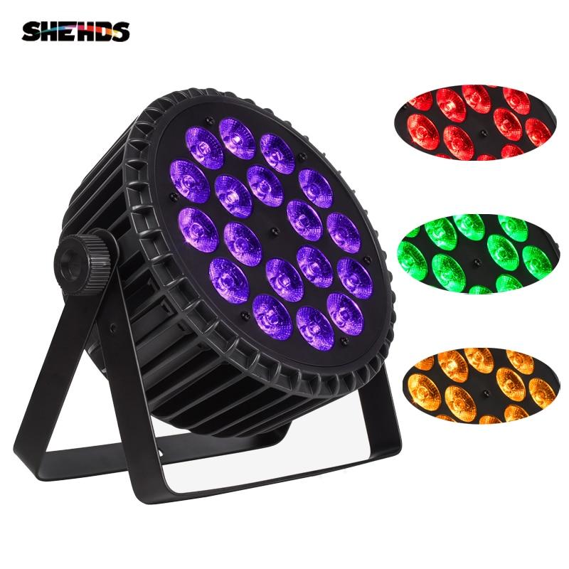 SHDHDS Aluminum Alloy LED Par 18x18W Lights RGBWA+UV 6in1 LED Lighting DMX512 Disco Lights Professional Stage Dj Equipment