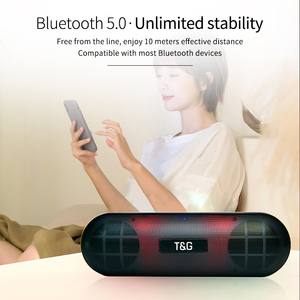 Image 3 - TG LED Bluetooth Outdoor Speaker Metal Portable Super Bass Wireless Loudspeaker 3D Stereo Music Surround With Mic FM TFCard Aux