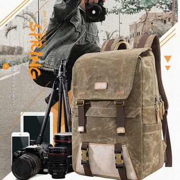 Multifunctional Batik Canvas Camera Backpack Dslr Camera Bag Outdoor Waterproof Dustproof Photography Bag for Canon Nikon Sony D