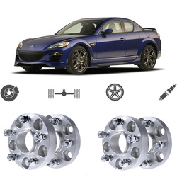Teeze 4 sztuk 5X114.3 67.1CB o grubości 25mm Hubcenteric przekładka koła adaptery do serii Mazda