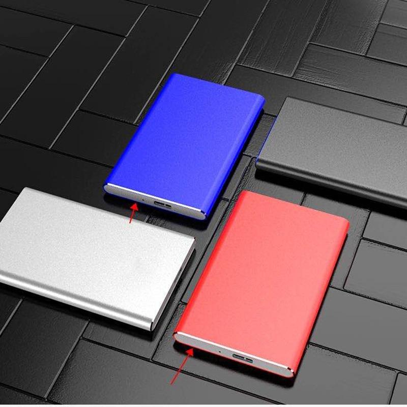 Original 2TB 1TB 500GB External Hard Drives USB 3.0 2.5 Portable Ultra Thin Aluminum Alloy Metal Mobile Hard Disk
