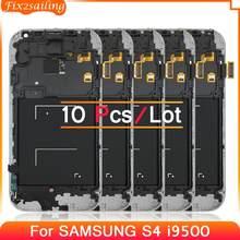 10 pçs display lcd para samsung galaxy s4 i9500 GT-I9505 i9505 i337 lcd assembléia digitador da tela de toque com quadro