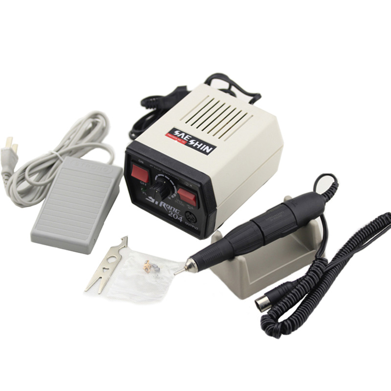 Strong 204 65W Electric Nail Drill Machine 35000rpm Control Box 102L Handle Pedicure File Bits Nails Art Equipment Manicure Set