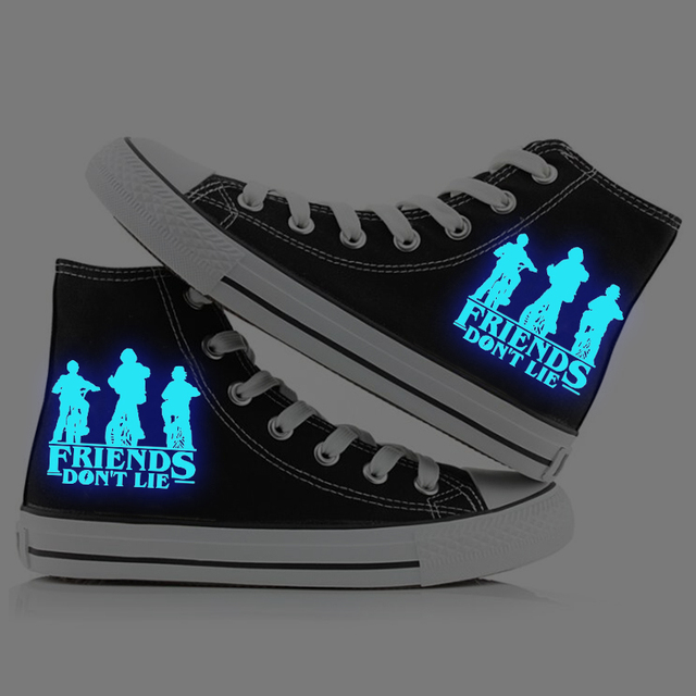 STRANGER THINGS LUMINOUS HIGH TOP SHOES (4 VARIAN)
