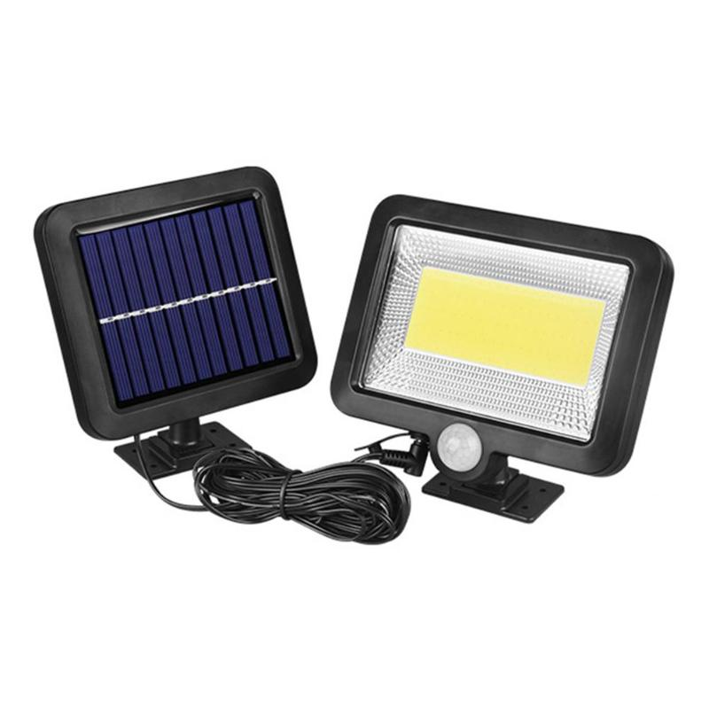 COB 100LED Solar Lamp Motion Sensor Waterproof Outdoor Path Night Lighting