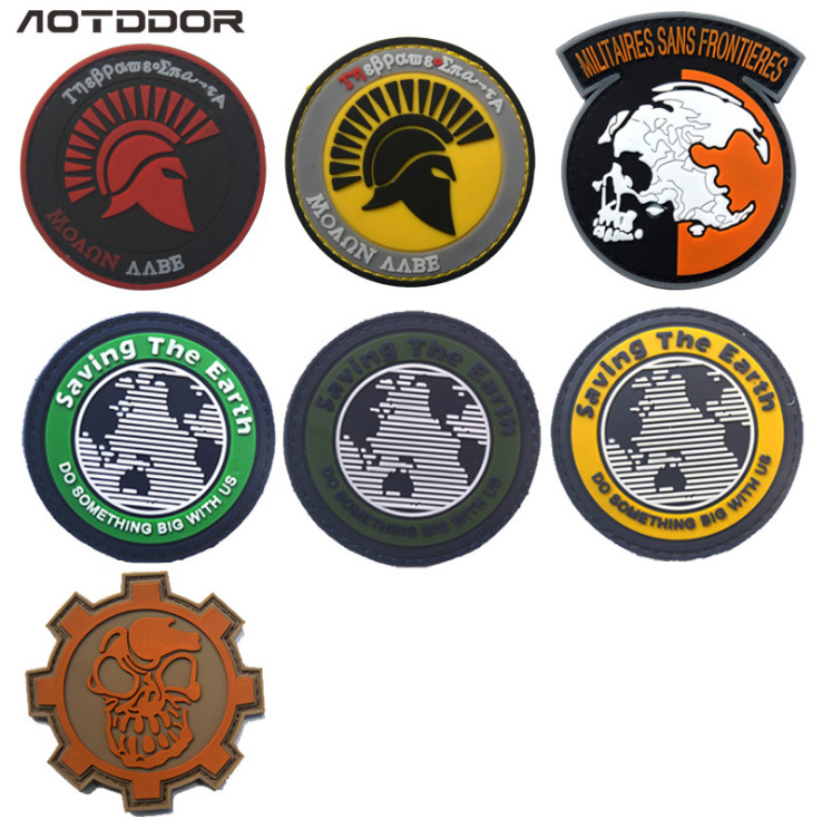 Sparta Save Earth PVC Disposable Epoxy Pack Posted Shoulder Emblem Velcro Morale Patch