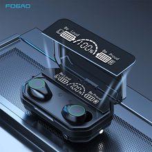 Écouteurs sans fil Bluetooth V5.1 TWS, Mini oreillettes intra-auriculaires étanches 9D, à commande tactile, pour téléphones iOS/Android