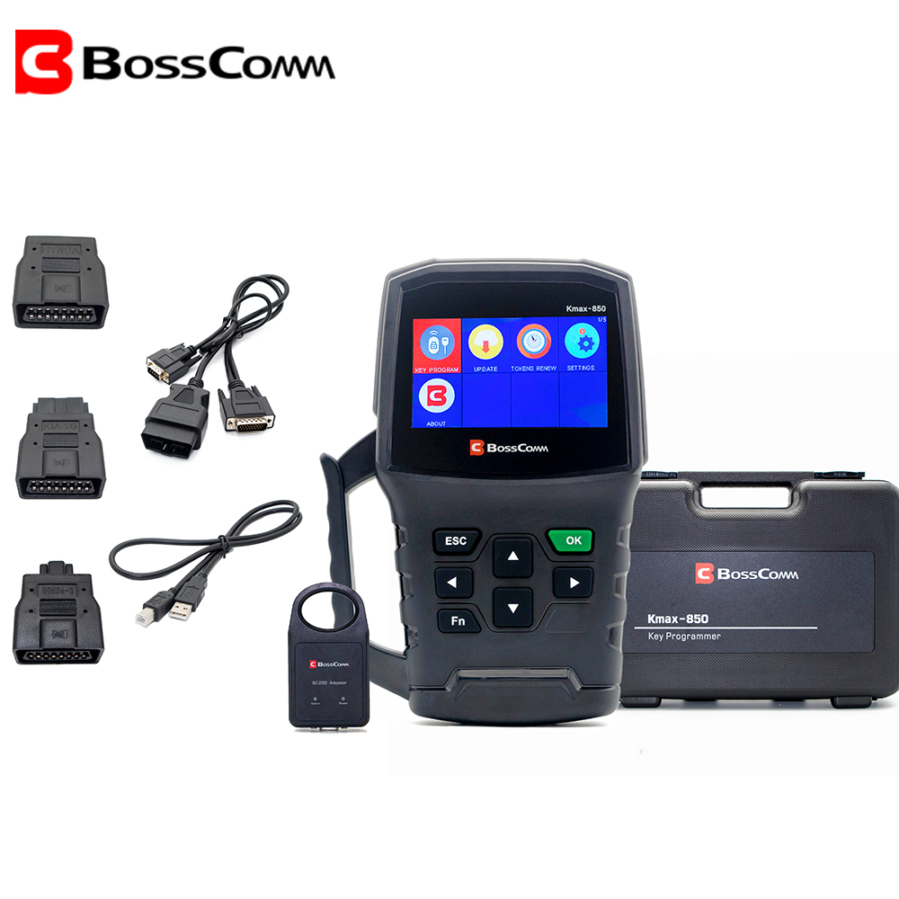 BOSSCOMM KMAX-850 2020 Auto Car Key Programmer For All Cars For Locksmith Automotivo OBD2 Immobilizer Scanner Key Tool