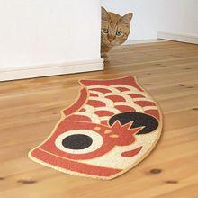 Area Rugs Welcome Doormat Fish-Carpet Egg-Shape Funny Nordic Cute Floor-Mats Bathroom-Rug