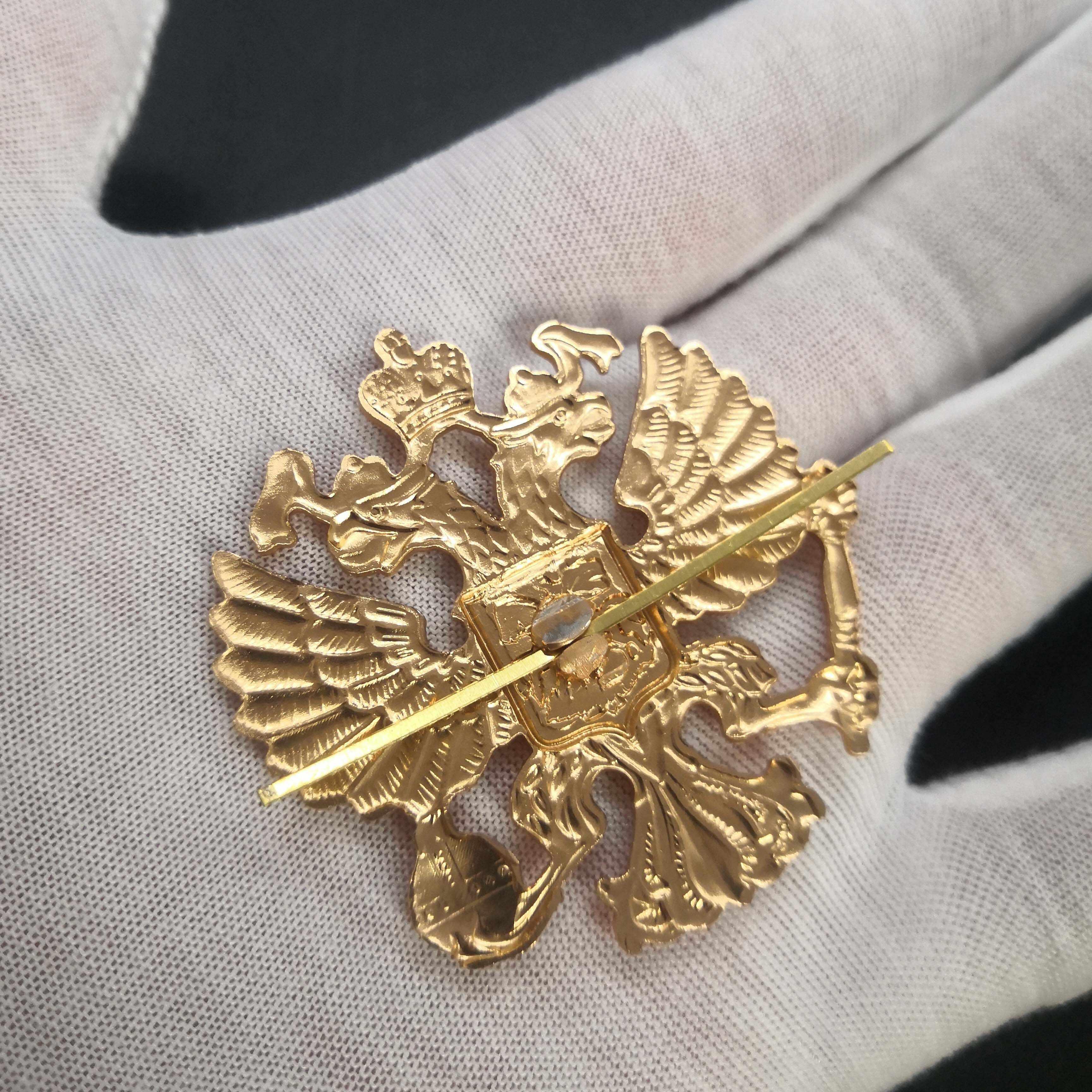 Pro Kitty Medali Rusia Double-Headed Eagle Medali Lambang Nasional Cockatiel Topi Pin Lencana