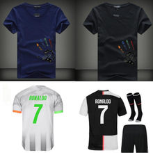 19 20 nouveau Libre patch NOUVEAU juvees Adultes et enfants kit DE Maillot DE Football maison Ronaldo 4th LIGT DYBALA juve enfant Football chemise(China)