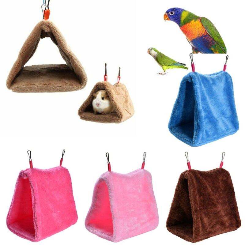 Fashion Bird House Plush Bird Hanging Cave Cage Snuggle Hut Tent Bed Birds Winter Warm Nest Bird Parrot Bunk Toy Parrot Hammock