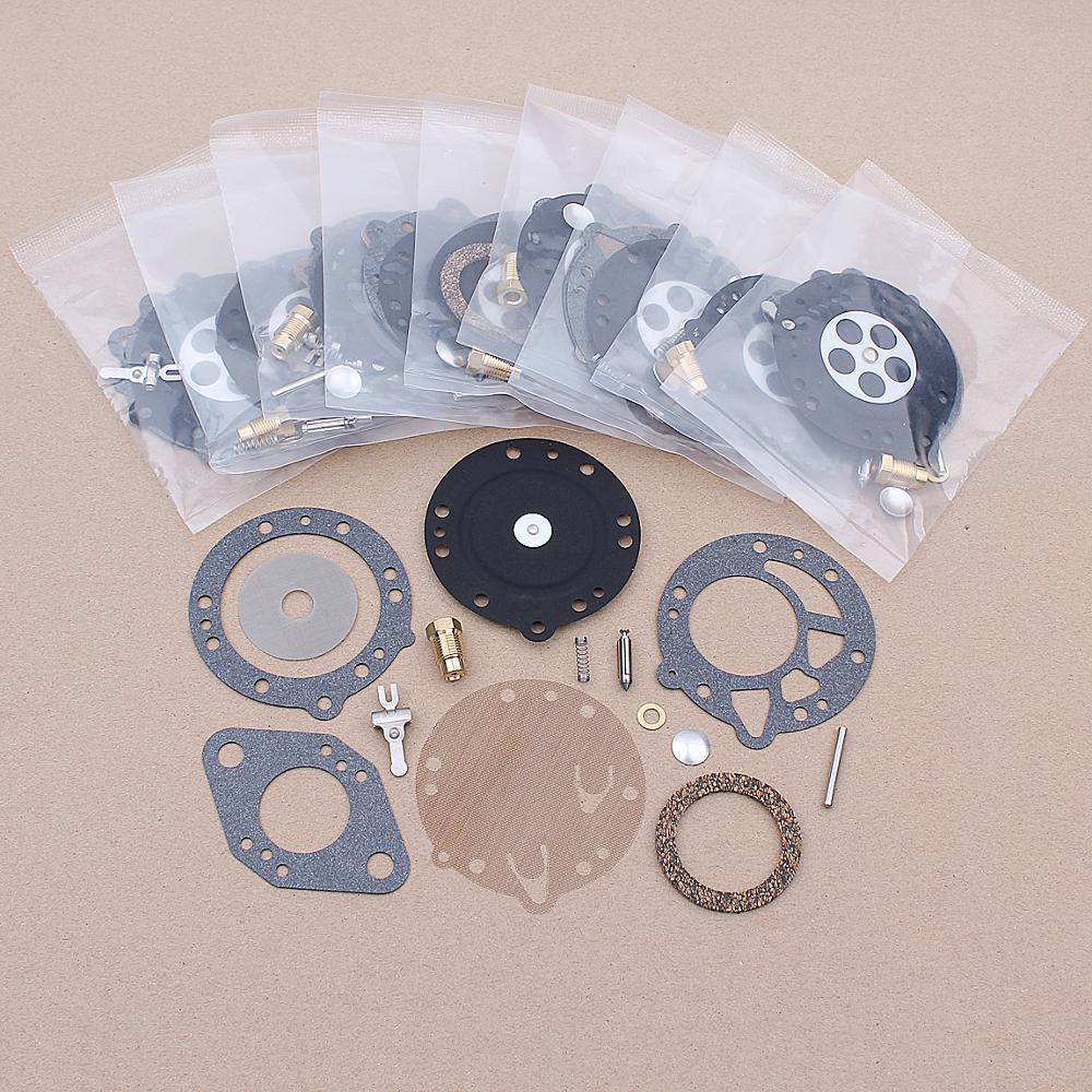 10pcs/lot Carburetor Repair Kit For Tillotson RK-114HL HL-166C HL-351A HL-352A HL-392A Replacement Spare Part Carb