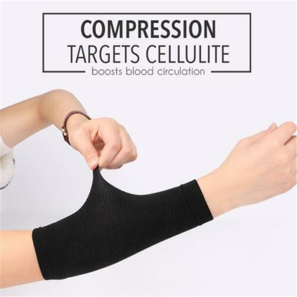 Best Christmas Present Free Shipping ToneUp Arm Shaping Sleeves Women Elastic Shaperwear Slimming 420D Lowest Price 2019