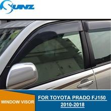 window visor for Toyota Fj150 2010-2018 side deflectors rain guards SUNZ