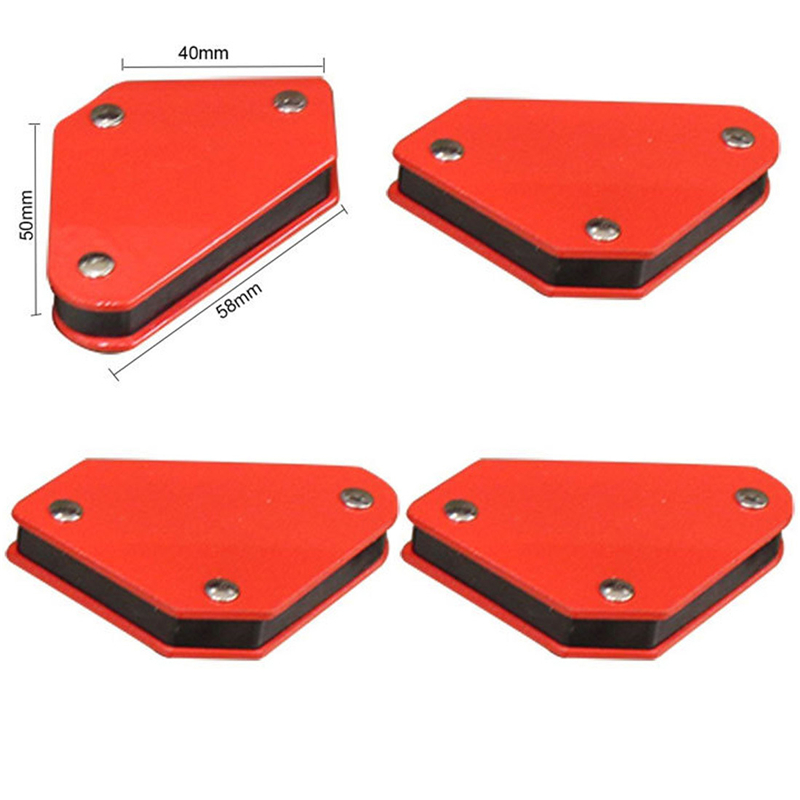 4 Pcs/set Mini Triangle Welding Positioner 9LB Magnetic Fixed Angle Soldering Locator Tools Without Switch Welding Accessories