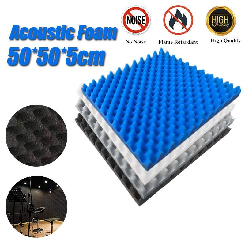 4PCS 50x50x5cm Soundproofing Foam Acoustic Foam Sound Treatment Studio Room Absorption Tiles Polyurethane foam Wall Panels