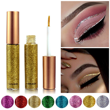 10 Colors Glitter Liquid Eyeliner Waterproof Shiny Smoky Eyeshadow Cosmetic Eye Makeup