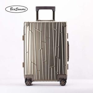 Image 3 - BeaSumore ใหม่ 100% อลูมิเนียมโลหะผสม Rolling กระเป๋าเดินทางคุณภาพสูงรถเข็นผู้ชาย 20 นิ้ว Cabin กระเป๋าเดินทาง