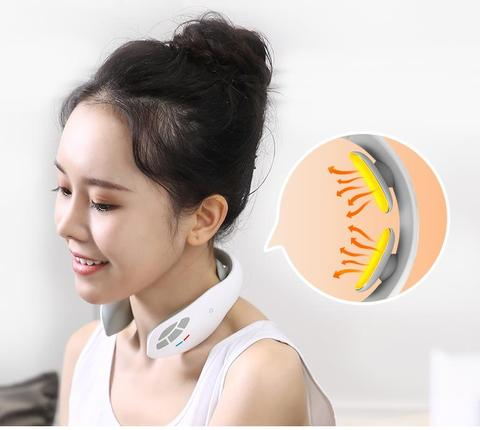 Pesco o protetor cervical v rtebra massageador fisioterapia port til inteligente compressa quente multi funcional