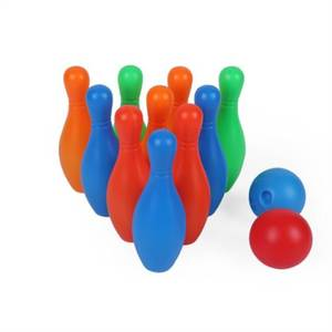 2-Bowling Balls Game Sensory Educational Kids Children Toy 11cm Fun Colorful 10-Pins