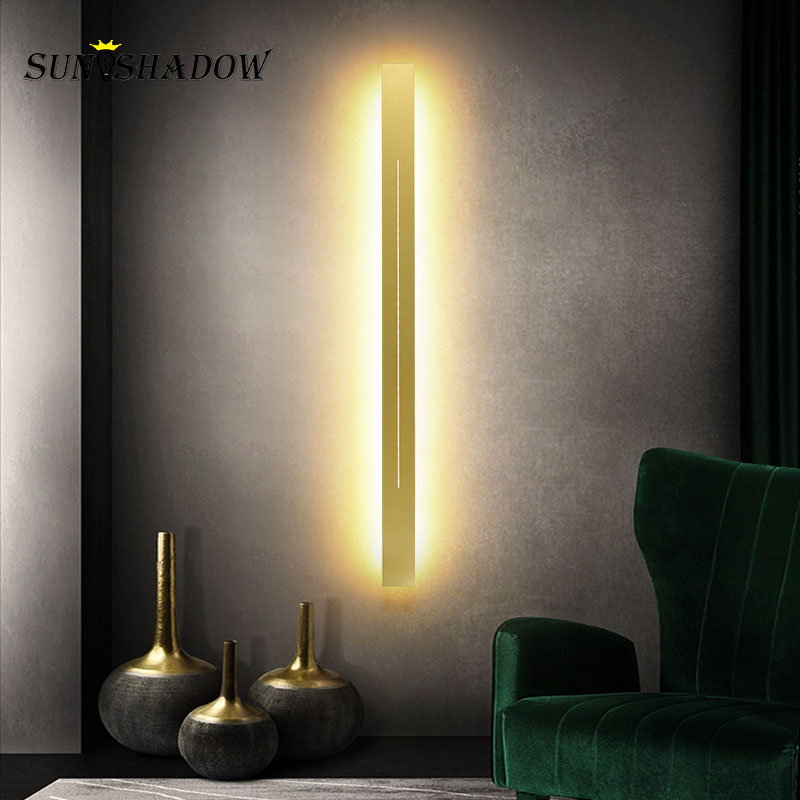 Gold Sonces Wall Lights 120 100 80 60cm Modern Led Wall Lamp For Living Room Corridor Light Bathroom Lamp Led Mirror Front Light