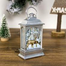 Christmas Decoration Lamp Portable LED Lanterns Decorative Lamp For Christmas Tree Ornaments Gifts Interior Garden Decoration(China)